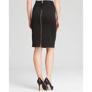 Vince Camuto Black Full Zip Pencil Skirt